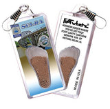 Selma, AL FootWhere® Souvenir Zipper-Pull. Made in USA - FootWhere® Souvenirs
