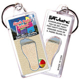 South Padre Island FootWhere® Souvenir Keychain. Made in USA-FootWhere® Souvenirs