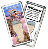 South Padre, TX FootWhere® Souvenir Fridge Magnet. Made in USA-FootWhere® Souvenirs