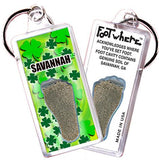 Savannah FootWhere® Souvenir Keychain. Made in USA-FootWhere® Souvenirs