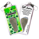 Savannah FootWhere® Souvenir Zipper-Pull. Made in USA-FootWhere® Souvenirs