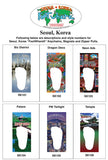 Seoul, Korea FootWhere® Souvenir Keychain. Made in USA-FootWhere® Souvenirs