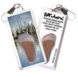 Seoul, Korea FootWhere® Souvenir Zipper-Pull. Made in USA - FootWhere® Souvenirs
