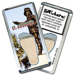 Saint Augustine, FL FootWhere® Souvenir Magnet. Made in USA-FootWhere® Souvenirs