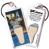 St. Croix, V.I. FootWhere® Souvenir Key Chain. Made in USA-FootWhere® Souvenirs