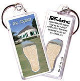 St. Croix, V.I. FootWhere® Souvenir Key Chain. Made in USA - FootWhere® Souvenirs
