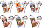 St. George FootWhere® Souvenir Keychains. 6 Piece Set. Made in USA