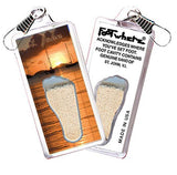 St. John, V.I. FootWhere® Souvenir Zipper-Pull. Made in USA-FootWhere® Souvenirs