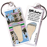 St. Petersburg, FL Souvenir Key Chain. Made in the USA - FootWhere® Souvenirs