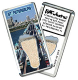 St. Petersburg FootWhere® Souvenir Fridge Magnet. Made in USA-FootWhere® Souvenirs