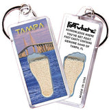 Tampa FootWhere® Souvenir Keychain. Made in USA-FootWhere® Souvenirs