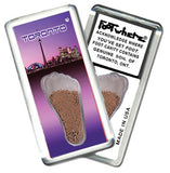 Toronto FootWhere® Souvenir Magnet. Made in USA-FootWhere® Souvenirs