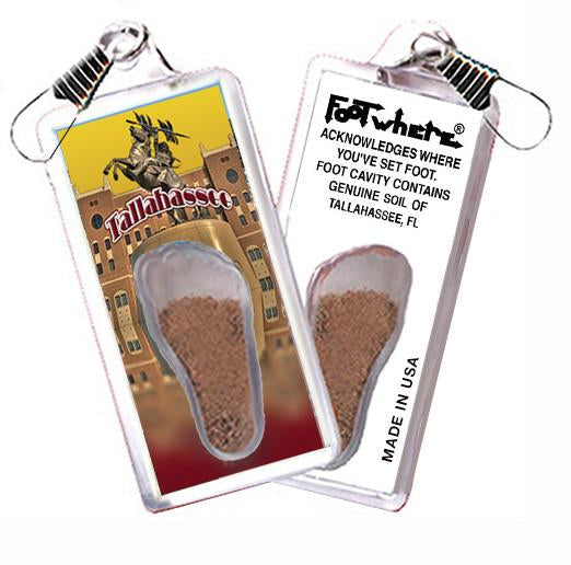 Tallahasse, FL FootWhere® Souvenir Zipper-Pull. Made in USA - FootWhere® Souvenirs