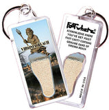 Virginia Beach FootWhere® Souvenir Keychain. Made in USA-FootWhere® Souvenirs
