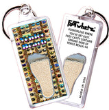 Venice Beach FootWhere® Souvenir Keychains. 6 Piece Set. Made in USA