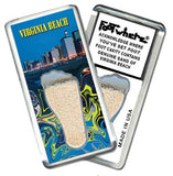 Virginia Beach, VA FootWhere® Souvenir Fridge Magnet. Made in USA-FootWhere® Souvenirs