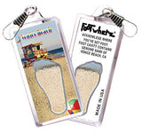 Venice Beach FootWhere® Souvenir Zipper-Pull. Made in USA-FootWhere® Souvenirs