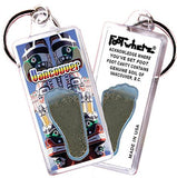 Vancouver FootWhere® Souvenir Keychain. Made in USA-FootWhere® Souvenirs