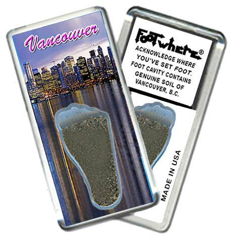 Vancouver, B.C. FootWhere® Souvenir Fridge Magnet. Made in USA-FootWhere® Souvenirs