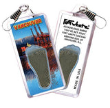 Vancouver FootWhere® Souvenir Zipper-Pull. Made in USA-FootWhere® Souvenirs