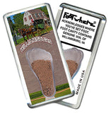 Williamsburg FootWhere® Souvenir Fridge Magnets. 6 Piece Set. Made in USA