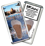 Wichita FootWhere® Souvenir Fridge Magnets. 6 Piece Set. Made in USA