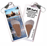 Wichita FootWhere® Souvenir Zipper-Pulls. 6 Piece Set. Made in USA