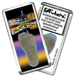 Wilmington, NC FootWhere® Souvenir Fridge Magnet. Made in USA - FootWhere® Souvenirs