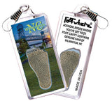 Wilmington, NC FootWhere® Souvenir Zipper-Pull. Made in USA-FootWhere® Souvenirs