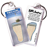 White Sands FootWhere® Souvenir Keychain. Made in USA-FootWhere® Souvenirs