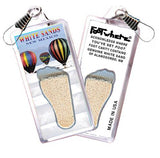 White Sands FootWhere® Souvenir Zipper-Pull. Made in USA-FootWhere® Souvenirs