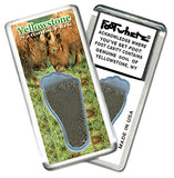 Yellowstone FootWhere® Souvenir Fridge Magnets. 6 Piece Set. Made in USA