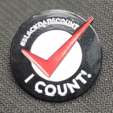 Black Dads Count Lapel Pin