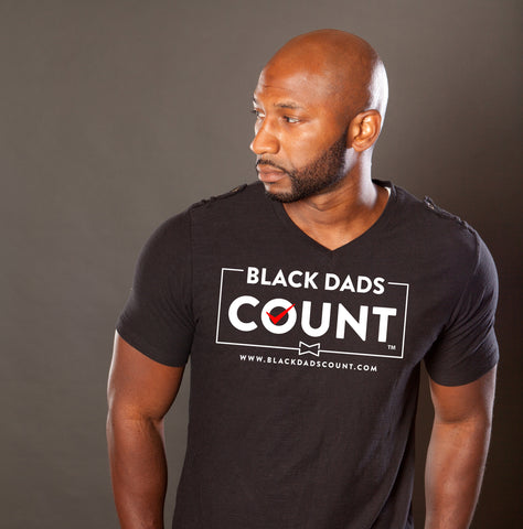 Dry Blend (100% Polyester) TShirt - Black Dads Count