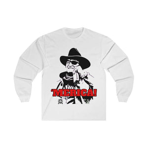 Merica John Wayne Drinkin Whiskey Long Sleeve T-Shirt