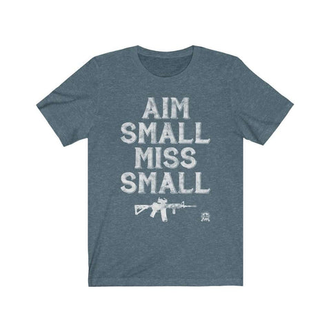 Image of Aim Small, Miss Small AR-15 2A Premium Jersey T-Shirt
