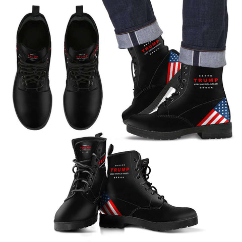 Image of Trump Keep America Great Leather Boots