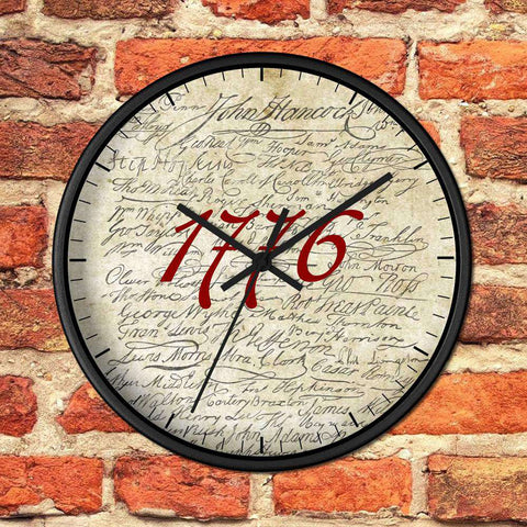 Image of 1776 Declaration of Independence Signers Wooden Wall clock