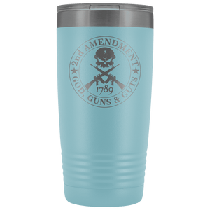2nd Amendment - God, Guns & Guts Stainless Etched Tumbler
