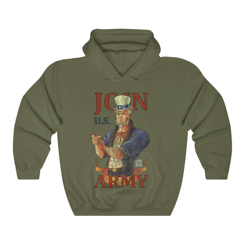 Image of Join U.S. Army Vintage Distressed Hoodie