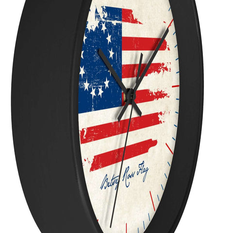 Image of Betsy Ross Flag Wooden Wall clock