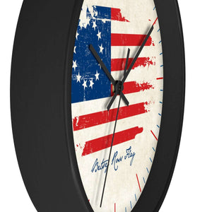 Betsy Ross Flag Wooden Wall clock
