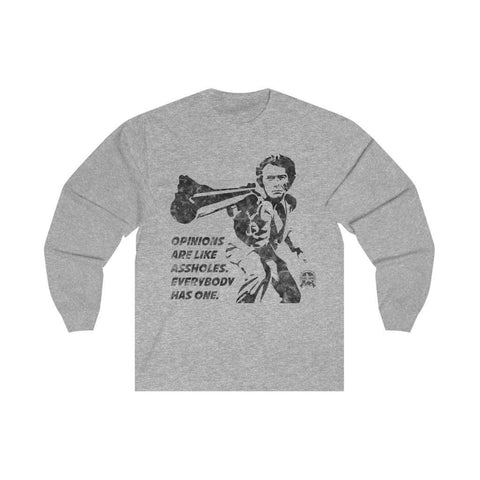 Image of Opinions Are Like Assholes... Dirty Harry Long Sleeve T-Shirt