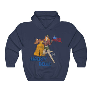 Liberty Belle - Retro WWII b-17 Airplane Nose Art Hoodie