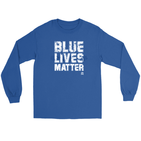 Image of Blue Lives Matter Long Sleeve Premium Jersey T-Shirt