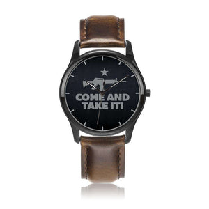 Come and Take it Leather Watch