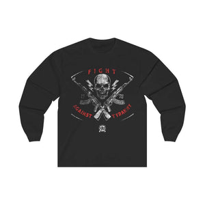 Fight Against Tyranny Distressed Long Sleeve T-Shirt