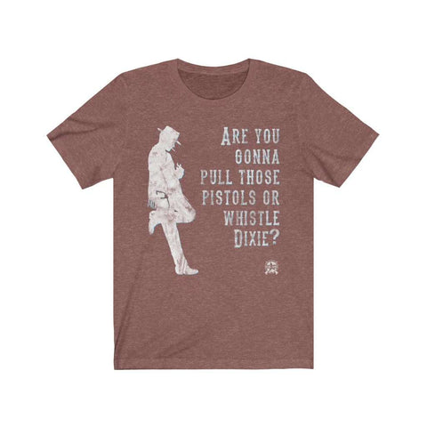 Image of Are you gonna pull those pistols or whistle Dixie? Clint Eastwood Premium Jersey T-Shirt