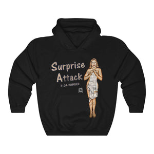 Surprise Attack - Retro WWII B-24 Bomber Airplane Nose Art Hoodie