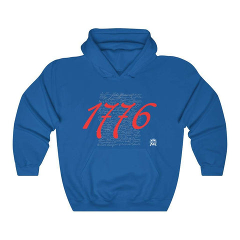 Image of 1776 Signers of the Declaration of Independence Signatures Hoodie